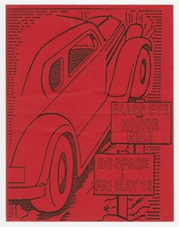 Glass Eye and Honor Role concert flier, d.c. Space, Washington, D.C., May 13, 1988