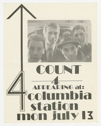 Count 4 concert flier - Columbia Station, Washington, D.C., July 13, 1981