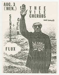 Vile Cherubs, Geek, and Senator Flux concert flier, d.c. Space, Washington, D.C., August 3, 1988