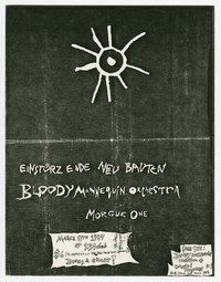 Einstürzende Neubauten and Bloody Mannequin Orchestra concert flier, 9:30 Club, Washington, D.C., March 8th, 1984