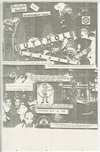 Butthole Surfers and Government Issue concert flier, University of Maryland, College Park, Maryland, November 21, 1988
