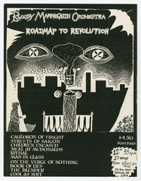 "Bloody Mannequin Orchestra ""Roadmap to Revolution"" promotional flier, 1984"
