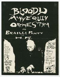 Bloody Mannequin Orchestra and Braille Party concert flier, 9:30 Club, Washington, D.C., June 1984