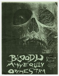 Bloody Mannequin Orchestra and Crippled Pilgrims concert flier, Washington, D.C., DC Space, March 24, 1984