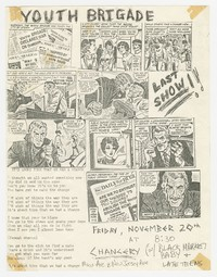 Youth Brigade, Black Market Baby, and Late Teens concert flier - The Chancery, Washington, D.C., November 20, 1981