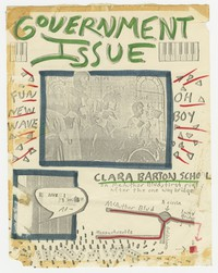Government Issue concert flier - Clara Barton School, Cabin John, Maryland, December 17, 1981