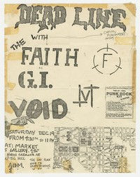 Deadline, The Faith, Government Issue flier - Market 5 Gallery, Washington, D.C., December 19, 1981