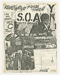 Assault and Battery and Minor Threat concert flier, YMCA Pow Wow House, Bethesda, Maryland, May 8, 1981