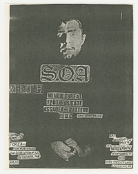 State of Alert, Minor Threat, and Youth Brigade concert flier, May 8 & 9, 1981