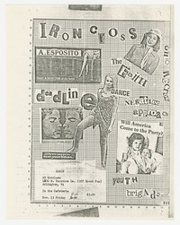 Iron Cross, The Faith, Negative Approach concert flier, Arlington, Virginia, November 13, 1981