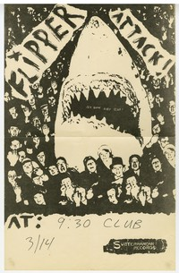 Flipper concert flier, 9:30 Club, Washington, D.C., March 14, 1982