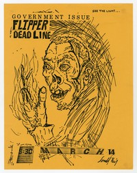 Government Issue, Flipper, and Deadline concert flier, 9:30 Club, Washington, D.C., March 14, 1982