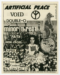 Artificial Peace, Void, and Double-O concert flier, Wilson Center, Washington, D.C., April 30, 1982