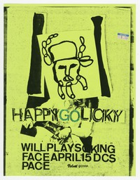 Happy Go Licky and King Face concert flier, d.c. Space, Washington, D.C., April 15, 1987