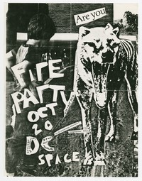 Fire Party concert flier, d.c. Space, Washington, D.C., October 20, 1987