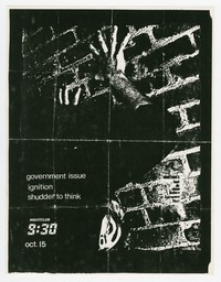 Government Issue, Ignition, Shudder to Think concert flier, 9:30 Club, Washington, D.C., October 15, 1987