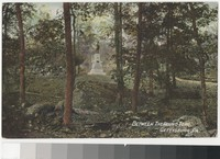 View between the Round Tops, Gettysburg, Pennsylvania, 1907-1914