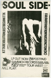 Soulside tour flier, September and October 1987