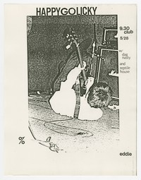 Happy Go Licky, Dag Nasty, Reptile House concert flier, 9:30 Club, Washington, D.C., May 28, 1987