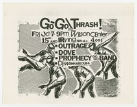 Outrage, Dove, and Prophecy concert flier, Wilson Center, Washington, D.C., October 7, 1986