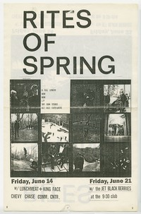 Rites of Spring flier, Washington, D.C., June 14 and 21, 1985