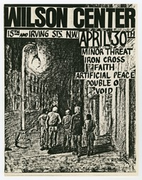 Minor Threat, Faith, Void, Iron Cross concert flier, Wilson Center, Washington, D.C., April 30, 1982
