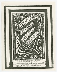 Rites of Spring, Beefeater, Embrace, Dag Nasty concert flier, Hall of Nations, Washington, D.C., December 4, 1985