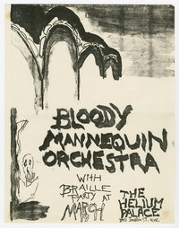 Bloody Mannequin Orchestra and Braille Party concert flier, Washington, D.C., March 1983