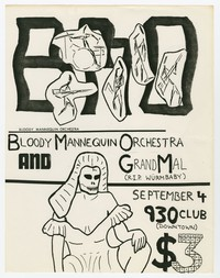 Bloody Mannequin Orchestra and Grand Mal, 9:30 Club, Washington, D.C., September 4, 1983