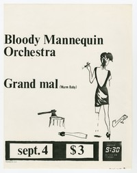Bloody Mannequin Orchestra and Grand Mal (Wurm Baby), 9:30 Club, Washington, D.C., September 4, 1983 (Design 2)