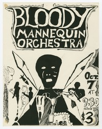 Bloody Mannequin Orchestra concert flier, 9:30 Club, Washington, D.C., October 7, 1983
