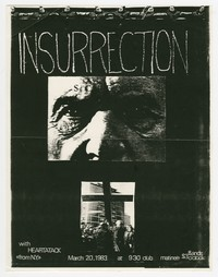 Insurrection, Scream and Heart Attack concert flier, 9:30 Club, Washington, D.C., March 20, 1983