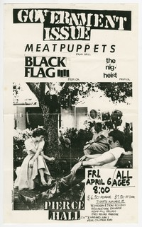 Black Flag – Washington, D.C. – Pierce Hall, April 6, 1984