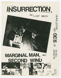 Insurrection, Marginal Man and Second Wind concert flier, 9:30 Club, Washington, D.C., July 24, 1983