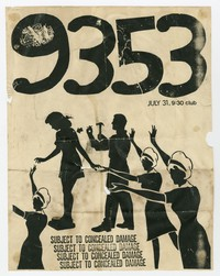 9353 concert flier, 9:30 Club, Washington, D.C., July 31, 1983