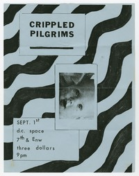 Crippled Pilgrims concert flier, d.c. Space, Washington, D.C., September 1, 1983