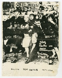Nike Chicks, Sport Turned Spectacle, Iron Cross, Second Wind and Underground Soldier concert flier, Knights of Columbus Hall, Washington, D.C., December 17, 1983