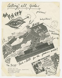 The Pin-Ups and The Razz concert flier, Montgomery College Fine Arts Theater, Rockville, Maryland - May 1, 1979