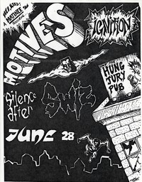 Swiz concert flier, Hung Jury Pub, Washington, D.C. - June 28, circa 1988