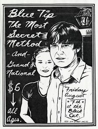Bluetip concert flier - Black Cat, Washington, D.C., August 7, 1998