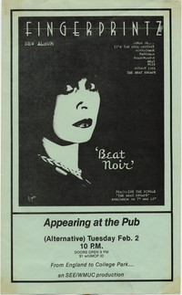Fingerprintz– College Park, MD – University of Maryland, The Pub , February 2, 1982