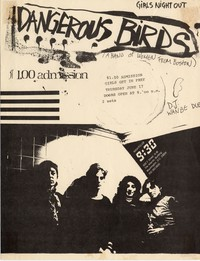 Dangerous Birds – Washington, D.C. – 9:30 Club , June 17, 1982