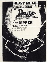 Deuce – Beltsville, MD – The Dipper, February 3 and 4, 1984