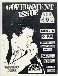 Government Issue – College Park, MD – Stamp Union Atrium University of Maryland, December 6, 1984