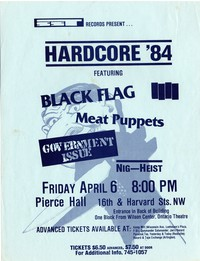 Black Flag – Washington, D.C. – Pierce Hall (Design 1), April 6, 1984