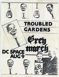 Troubled Gardens – Washington, D.C. – D.C. Space, August 9, 1985