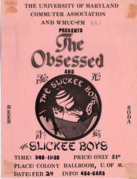 The Obsessed – Colony Ballroom, Stamp Union, University of Maryland, February 24, 1984