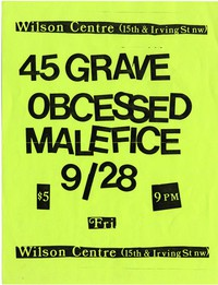 45 Grave – Washington, D.C. – Wilson Center, September 28, 1984