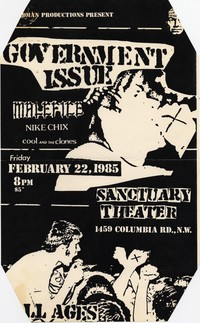 Government Issue – Washington, D.C. – Sanctuary Theater, February 22, 1985