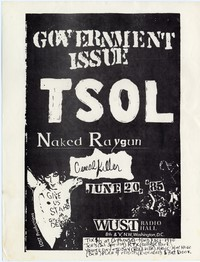 Government Issue – Washington, D.C. – WUST Radio Hall (Design 2), June 20, 1985